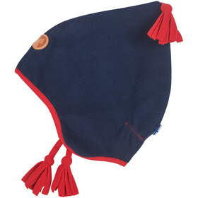 Finkid Pipo Bonnet Pixie Polaire Enfant, navy/red